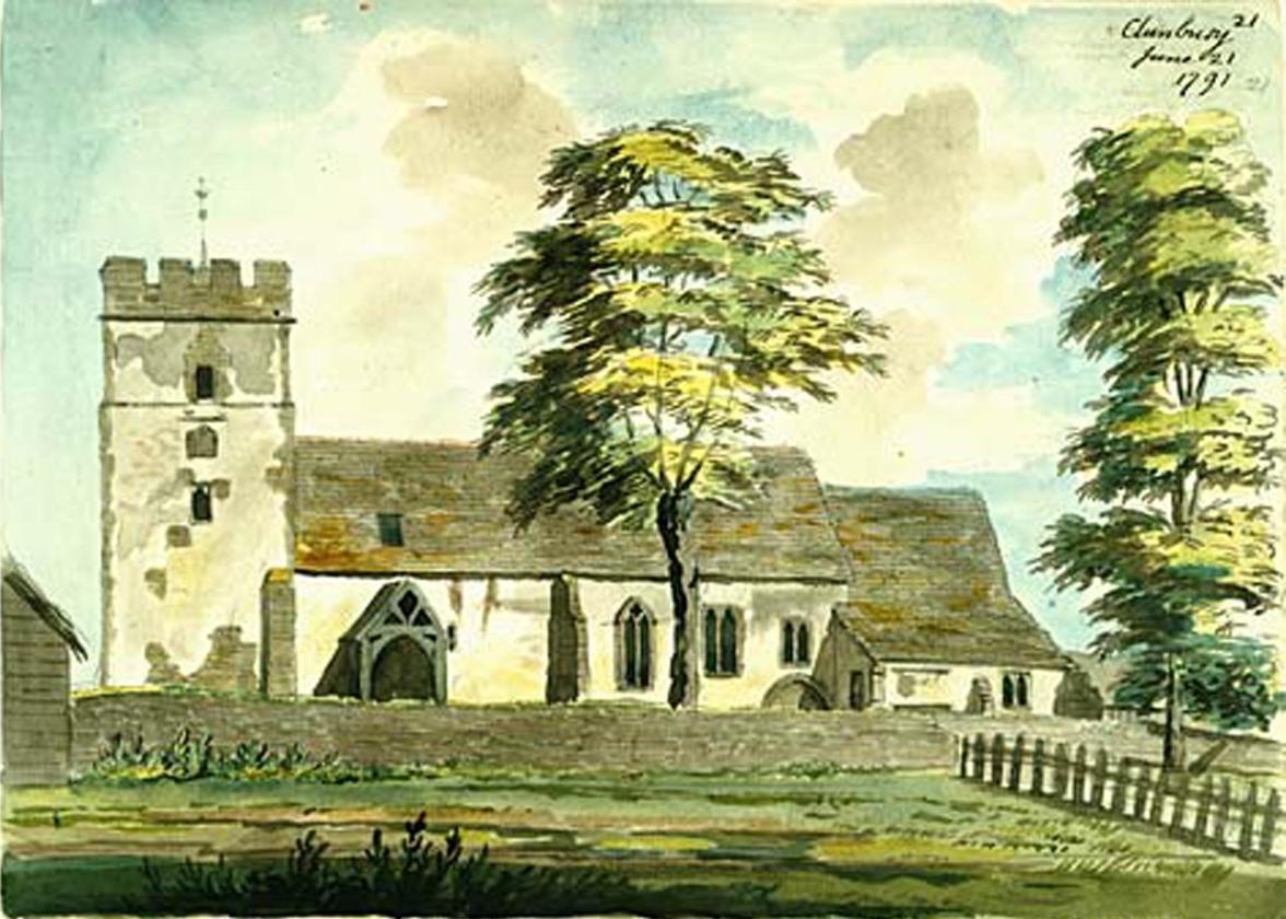 Clunbury Church painting v2